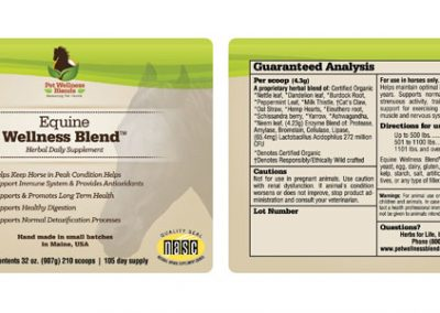 Equine Wellness Blend Label Design