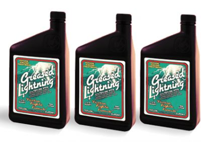 Greased Lightning Label Design