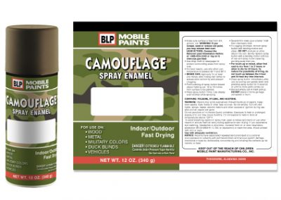 Calmouflage Label Design