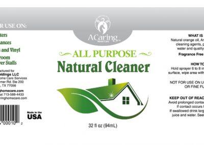 Natural Cleaner Label Design