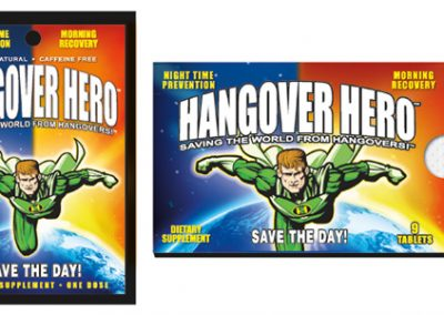 Hangover Hero Package Design