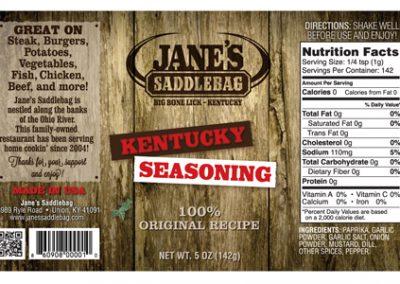 Jane's Saddlebag Kentucky Seasoning