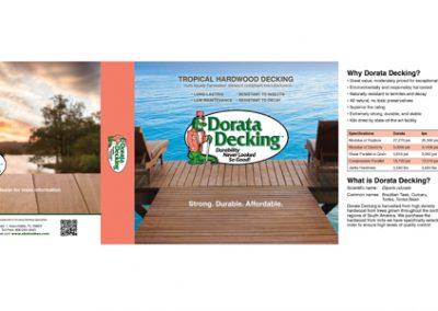 Dorata Decking Label Design package sleeve design