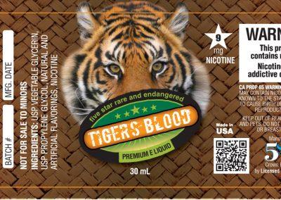 Tiger's Blood Label Design