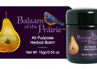 Balsam of the Prairie label design