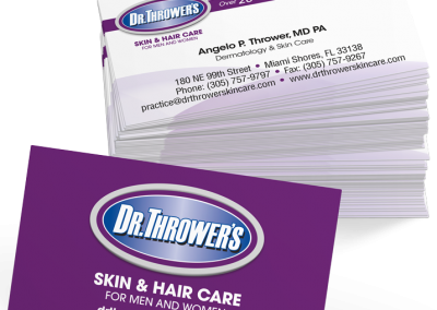 Dr Thrower Business Card Design