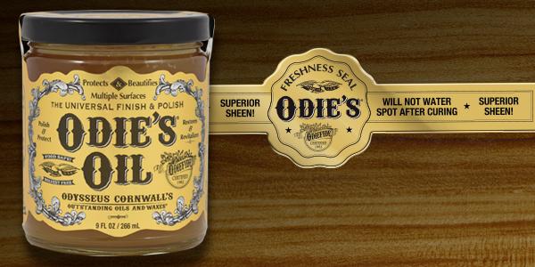 Odie's Jar Label Design and Seal Design