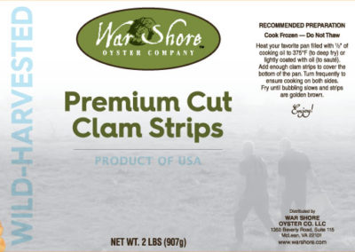 War Shore Oyster Company Premium Cut Clam Strips