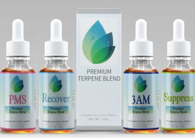 Price Rite Pharmacy Terpene Label Design