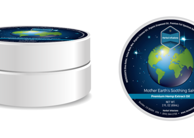 Herbal Infusion Mother Earth Salve Label Design