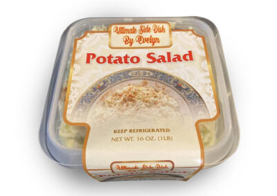Ultimate Side Dish By Evelyn Potato Salad Label