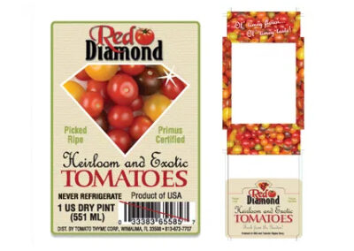 Red Diamond Tomatoes label