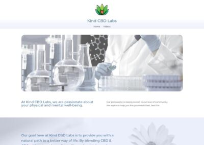 Kind CBD Labs web site