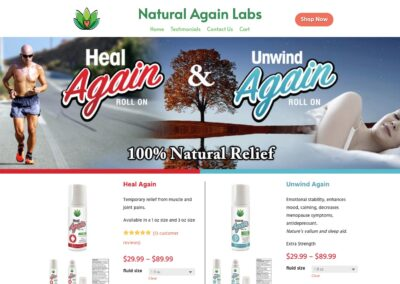 Natural Again Labs Web Site