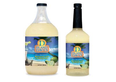 Island Daves Margarita Mix Mockup