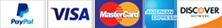 PayPal Visa MasterCard American Express Discover
